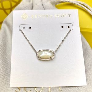 New Kendra Scott Elisa Silver Ivory Pearl